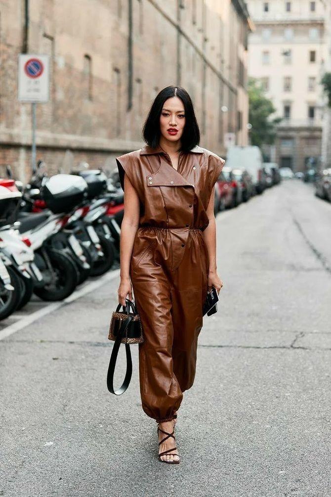 Стильные луки с кожаными комбинезонами: почему их стоит носить 14