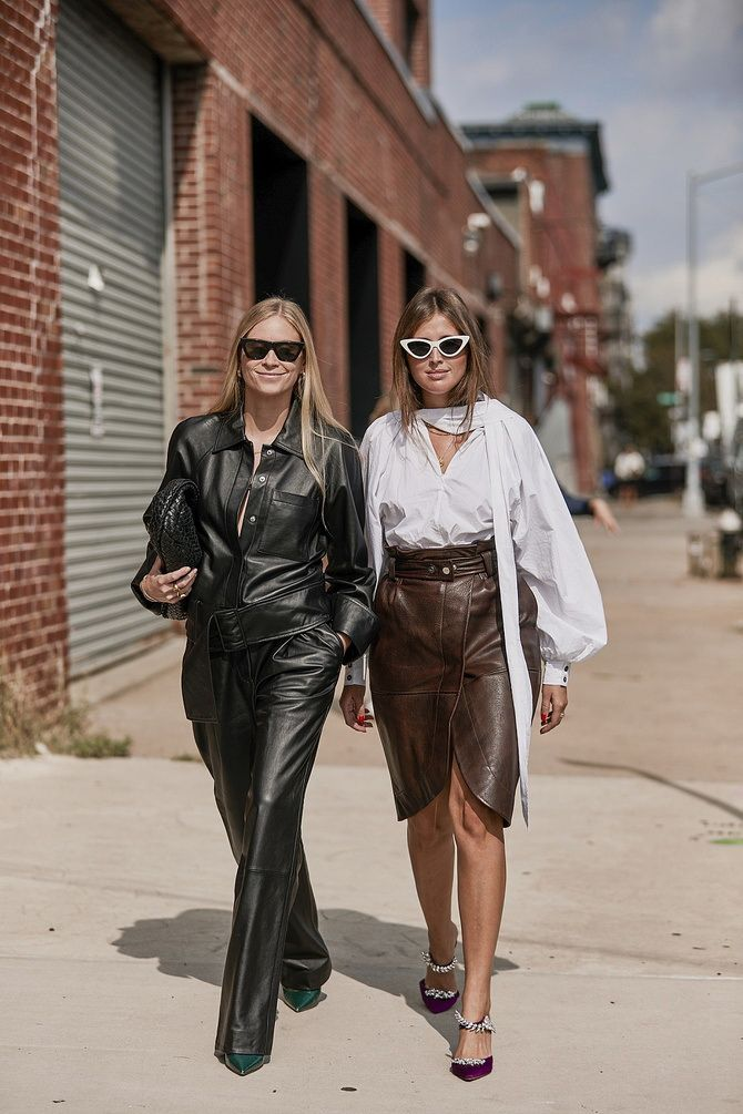 Стильные луки с кожаными комбинезонами: почему их стоит носить 15