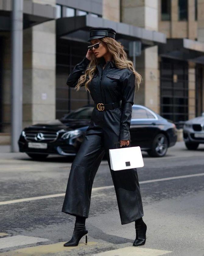 Стильные луки с кожаными комбинезонами: почему их стоит носить 16