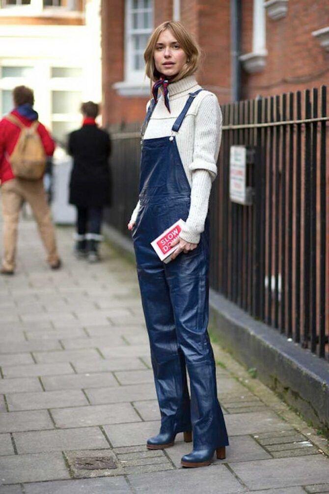 Стильные луки с кожаными комбинезонами: почему их стоит носить 18
