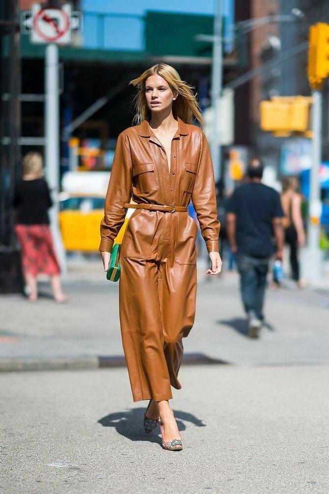Стильные луки с кожаными комбинезонами: почему их стоит носить 19