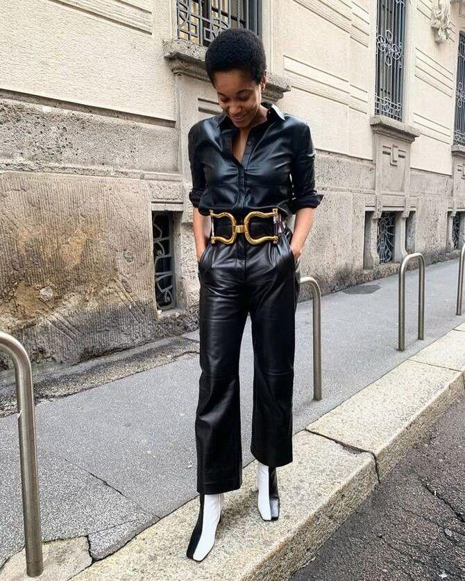 Стильные луки с кожаными комбинезонами: почему их стоит носить 21