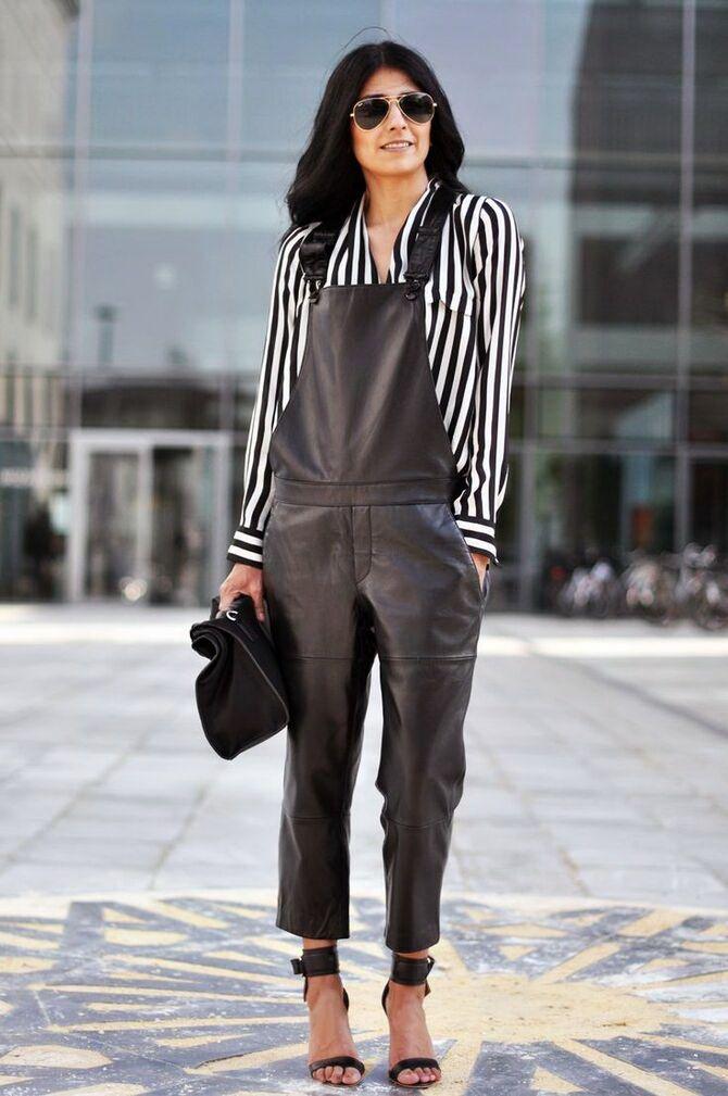 Стильные луки с кожаными комбинезонами: почему их стоит носить 9