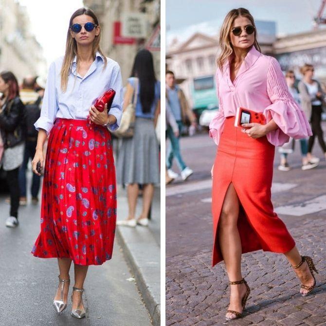 Красные юбки — с чем сочетать, чтобы выглядеть красиво 7