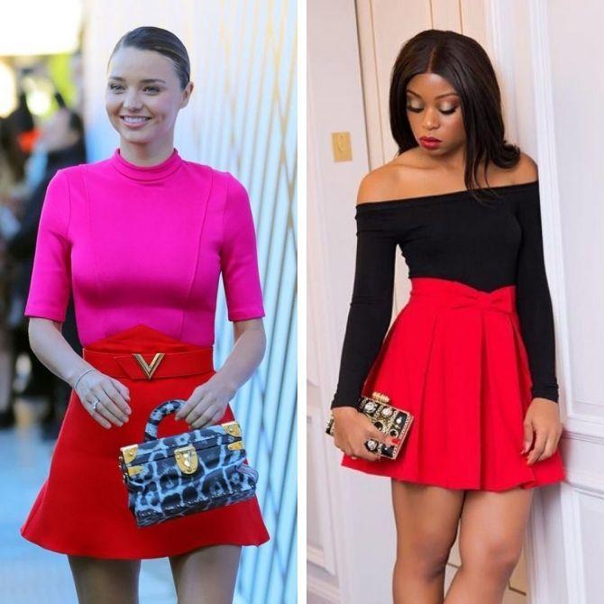 Красные юбки — с чем сочетать, чтобы выглядеть красиво 2
