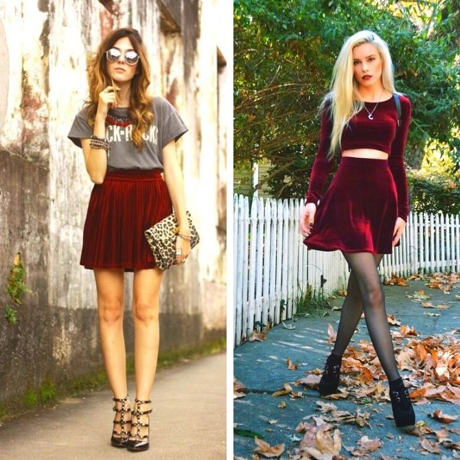 Красные юбки — с чем сочетать, чтобы выглядеть красиво 3