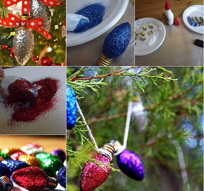 Ялинкові іграшки з лампочок: створюємо новорічний настрій 2