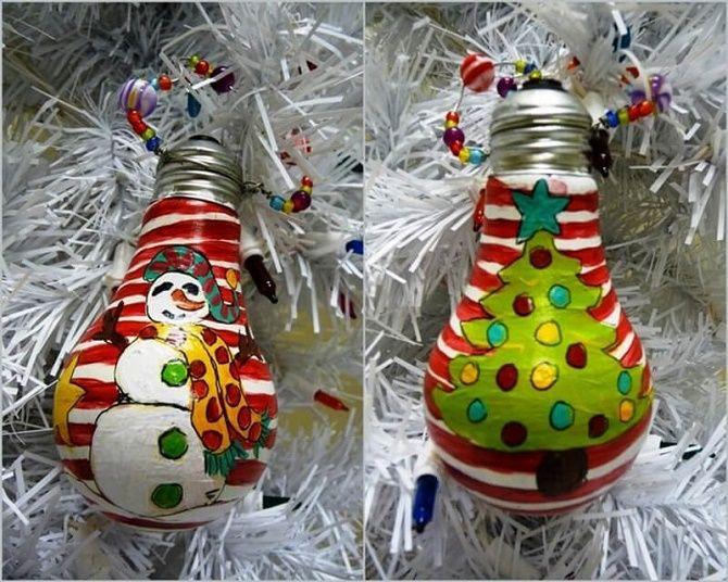 Ялинкові іграшки з лампочок: створюємо новорічний настрій 14