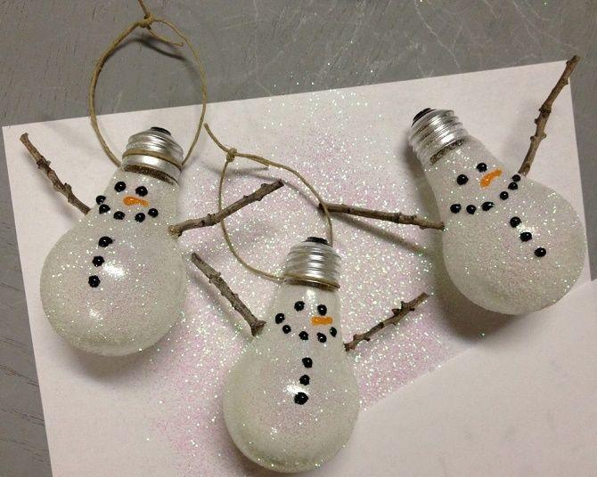Ялинкові іграшки з лампочок: створюємо новорічний настрій 15