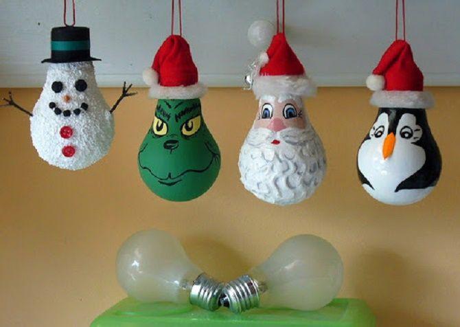 Ялинкові іграшки з лампочок: створюємо новорічний настрій 16