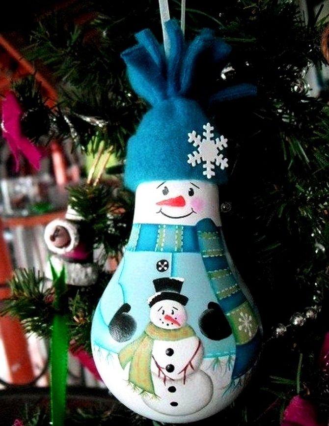Ялинкові іграшки з лампочок: створюємо новорічний настрій 5