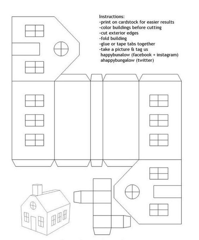 Новорічний будиночок – поробка своїми руками 25