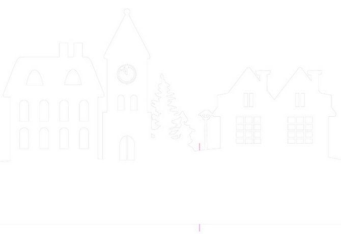 Новорічний будиночок – поробка своїми руками 7