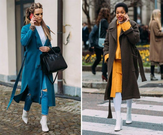 Какую обувь сочетать с пальто 10