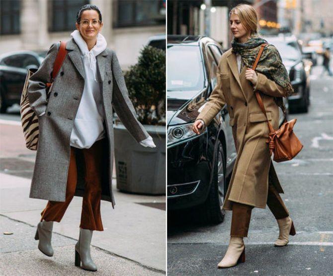 Какую обувь сочетать с пальто 11
