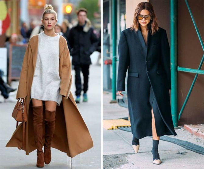 Какую обувь сочетать с пальто 14