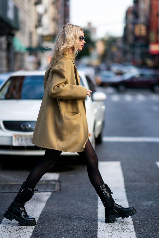 Какую обувь сочетать с пальто 2