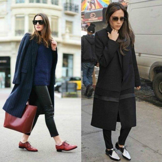 Какую обувь сочетать с пальто 7