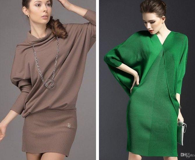Модные платья летучая мышь: красиво и стильно 8