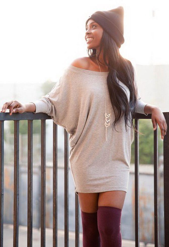 Модные платья летучая мышь: красиво и стильно 17