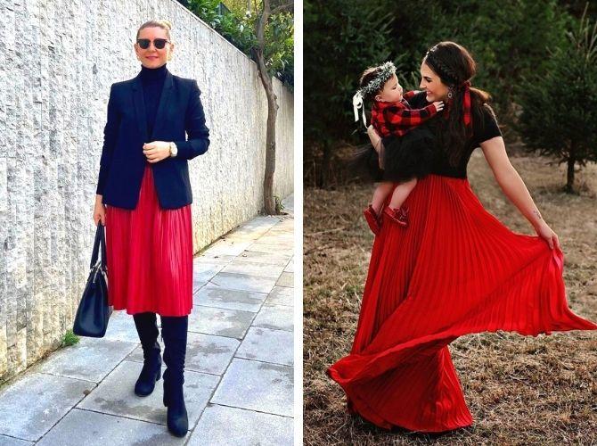 Красные юбки — с чем сочетать, чтобы выглядеть красиво 21