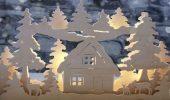 Новогодний домик – поделка своими руками