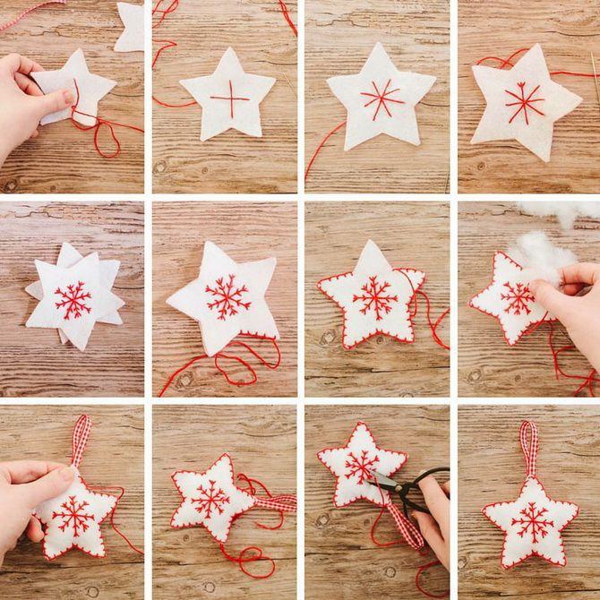 Поделки из ткани на Новый год: быстро, просто и со вкусом 11
