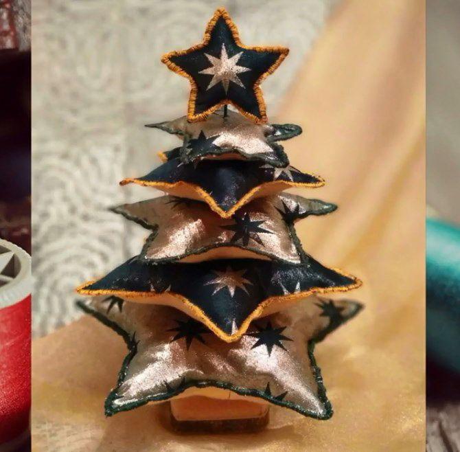 Поделки из ткани на Новый год: быстро, просто и со вкусом 12