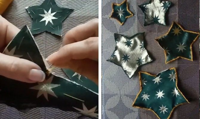 Поделки из ткани на Новый год: быстро, просто и со вкусом 18
