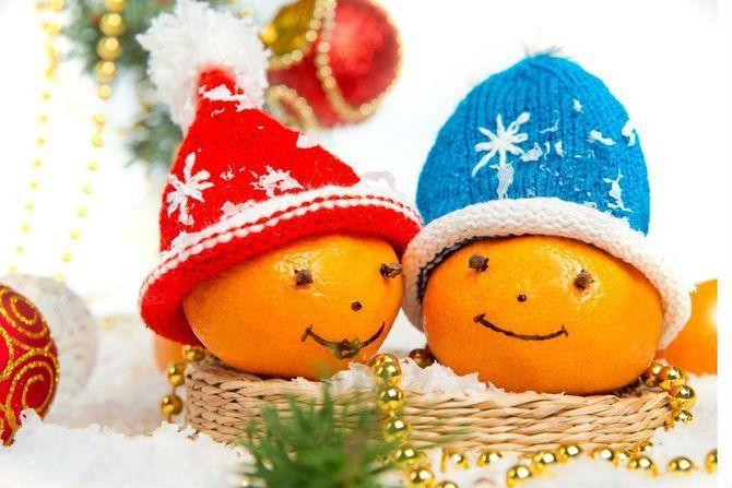 Новогодний декор из мандаринов: 7 необычных идей 1