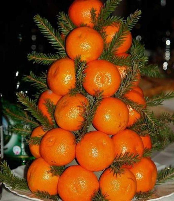 Новогодний декор из мандаринов: 7 необычных идей 4