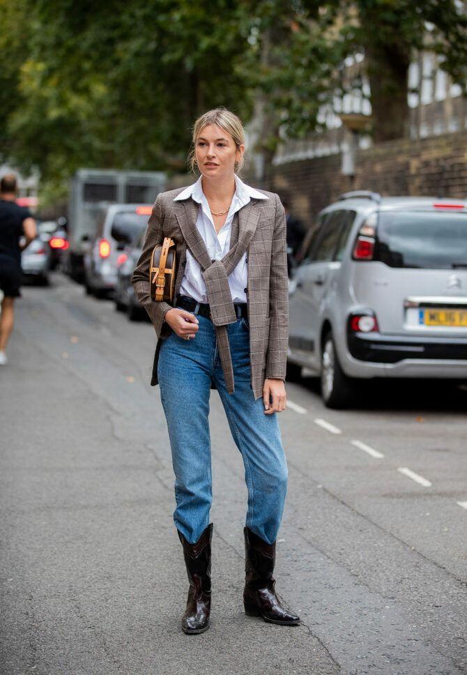 Лучшие сапоги, которые отлично сочетаются с модными джинсами 1