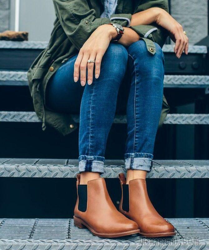 Лучшие сапоги, которые отлично сочетаются с модными джинсами 15