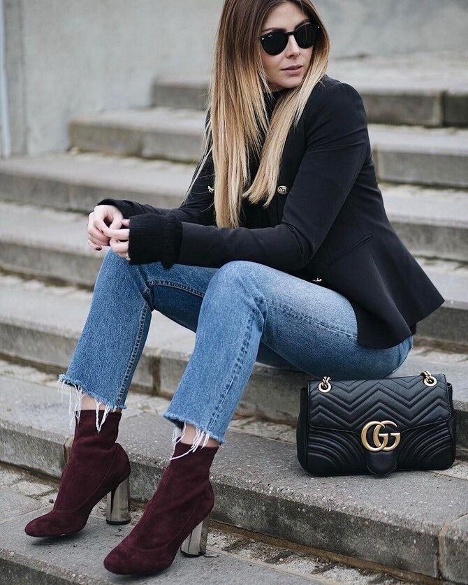 Лучшие сапоги, которые отлично сочетаются с модными джинсами 23