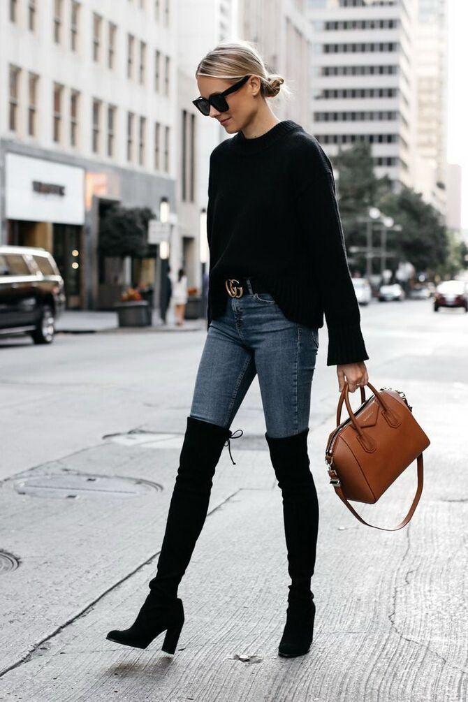 Лучшие сапоги, которые отлично сочетаются с модными джинсами 30