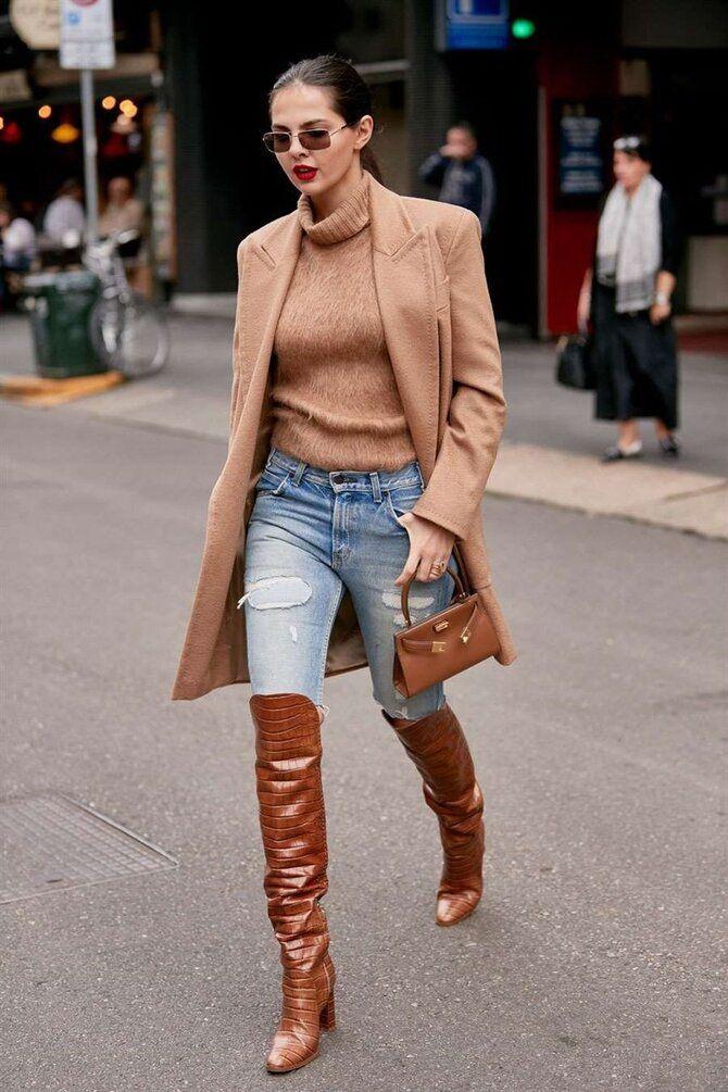 Лучшие сапоги, которые отлично сочетаются с модными джинсами 33