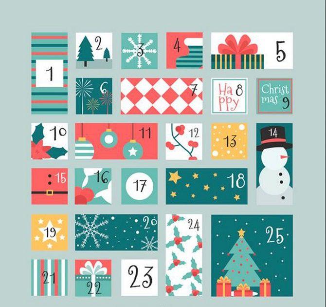 Адвент-календарь своими руками для детей: лучшие идеи с примерами 12