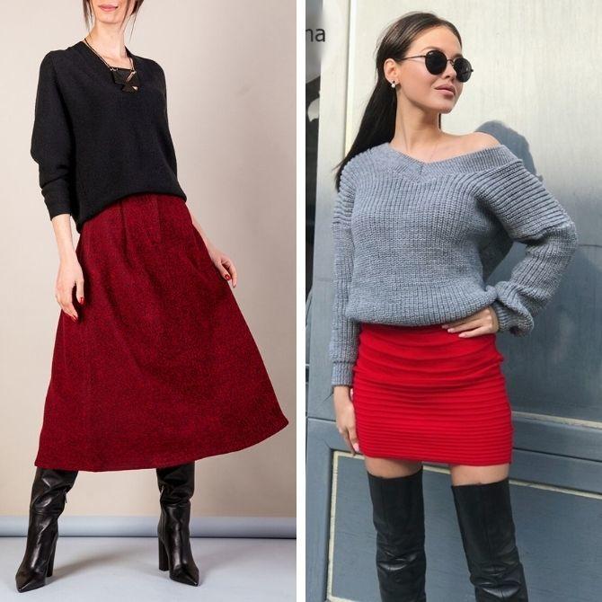 Красные юбки — с чем сочетать, чтобы выглядеть красиво 10