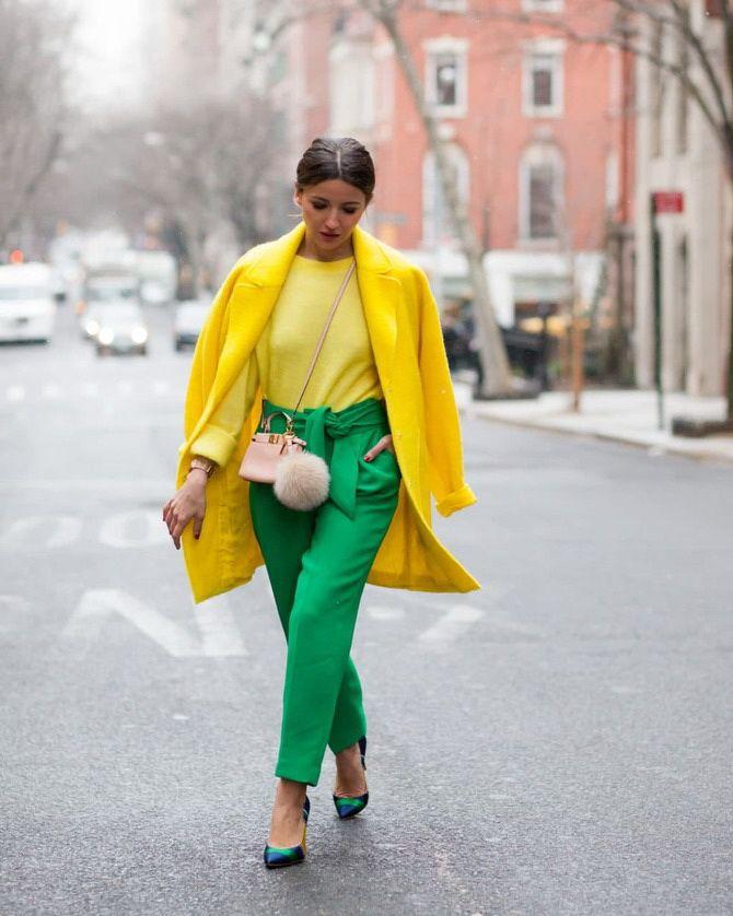 Як поєднувати кольори в одязі, щоб бути модною: 5 кращих варіантів 2020-2021 4