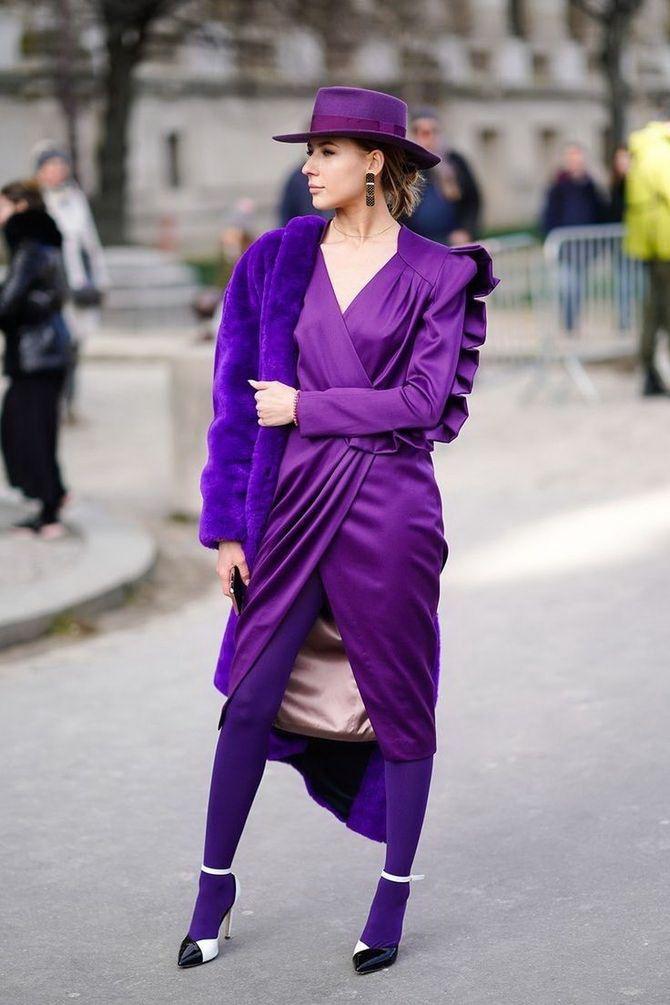 5 идей, как правильно носить фиолетовый цвет 16