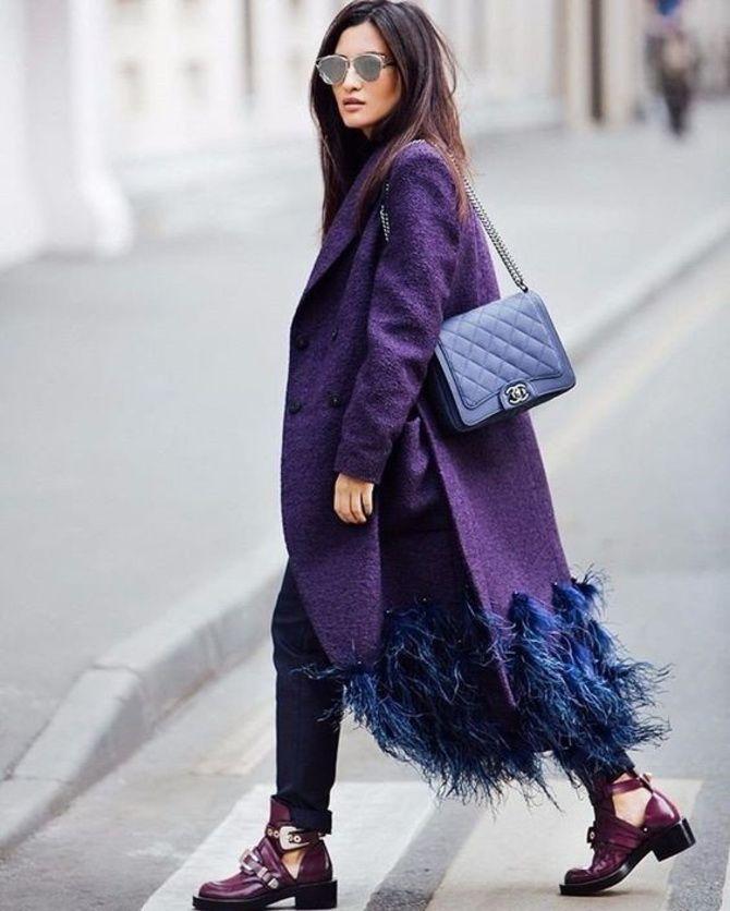 5 идей, как правильно носить фиолетовый цвет 22