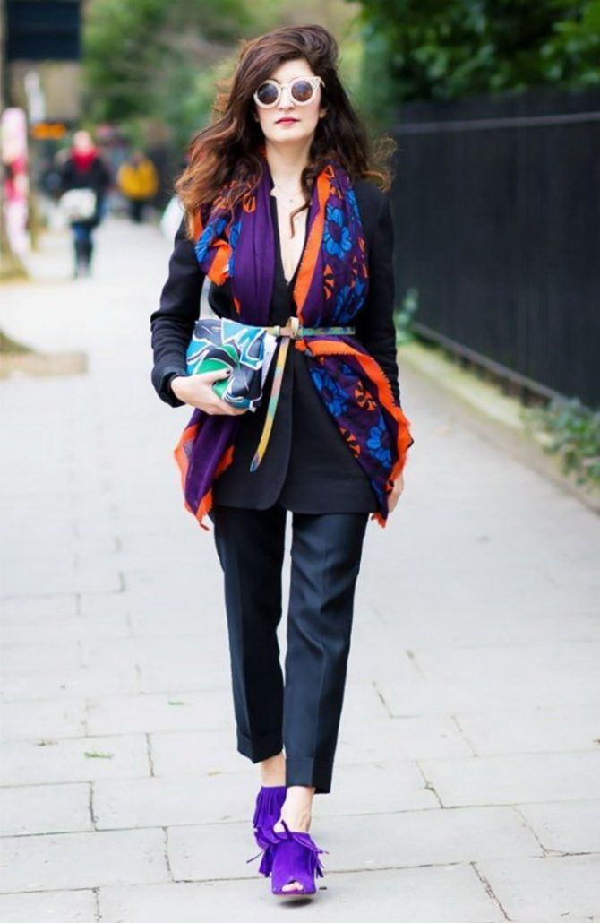 5 идей, как правильно носить фиолетовый цвет 32