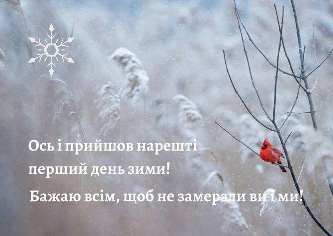 З першим днем зими! Красиві привітання 5