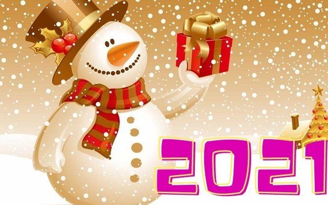 Чудесные поздравления с Новым годом 2021: открытки и картинки в год Быка 10