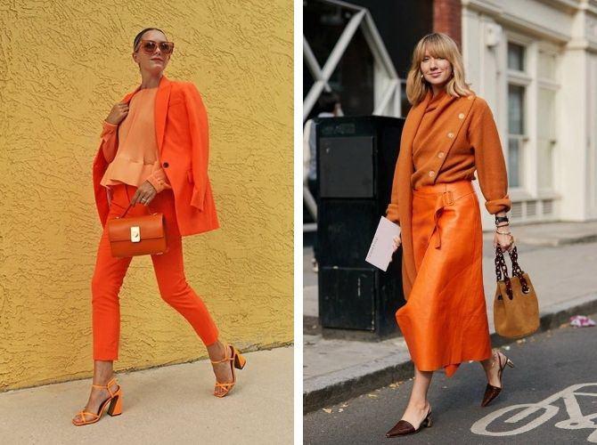 Помаранчевий – яскравий колір для красивих луків 3