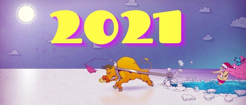 Картинки с наступающим Новым годом 2021 – что пожелать в год Быка?