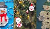 Как сделать снеговика из ватных дисков – лучшие новогодние поделки