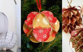 Красивые и необычные елочные игрушки из бумаги – как сделать своими руками
