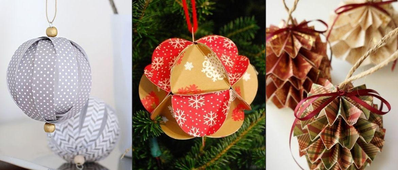 Красиві і незвичайні ялинкові іграшки з паперу – як зробити своїми руками