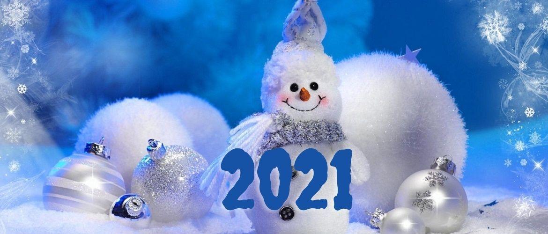 Чарівні новорічні картинки на 2021 рік Бика